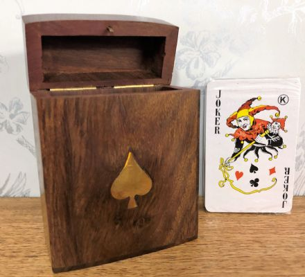 Handcrafted Sheesham Rosewood Playing Card Flip Box